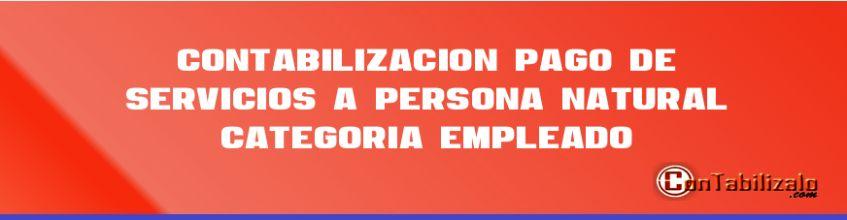 Contabilización pago de servicios a persona natural categoría EMPLEADO.