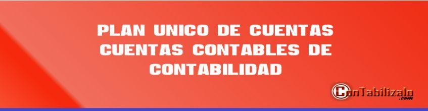 Plan unico de cuentas ►Cuentas Contables de Contabilidad