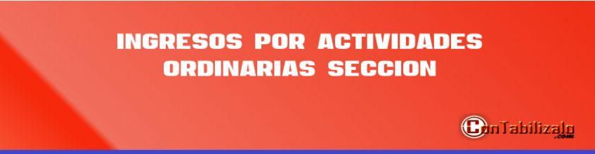 Ingresos por actividades ordinarias Sección 23