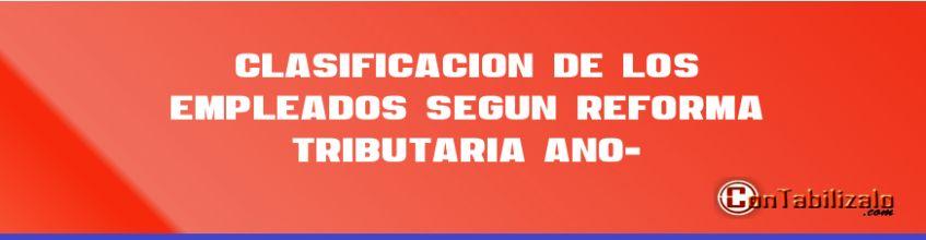 Clasificación de los Empleados Según Reforma Tributaria (Año-2014).