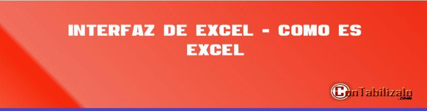 Interfaz de Excel 2013 - Como es Excel 2013