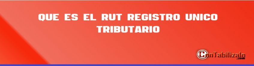"""Que es el RUT """"Registro Único Tributario"""""""