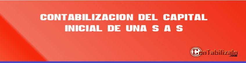 Contabilización del Capital Inicial de una S.A.S.
